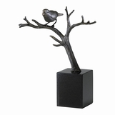 Perched Sparrow Sculpture