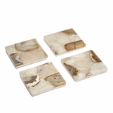 Piety Agate Coasters Set | Natural