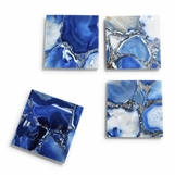 Piety Agate Coasters Set | Blue