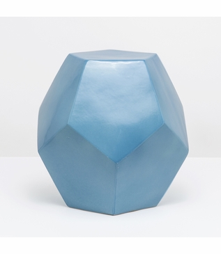 Polyhedron Stool/Side Table | Blue