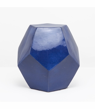 Polyhedron Stool/Side Table | Dark Blue