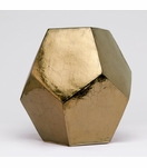 Polyhedron Stool/Side Table | Gold