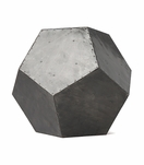 Polyhedron Stool/Side Table | Zinc