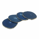 Posey Gold Agate Coasters | Blue