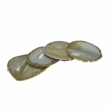 Posey Gold Agate Coasters | Natural