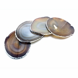 Posey Silver Agate Coasters | Natural