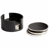 Prescott Nickel Coasters Set | Black