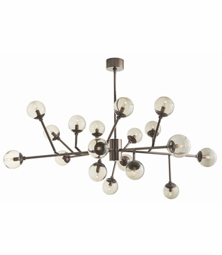 Priya Articulated Chandelier | Brown Nickel