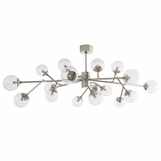 Priya Articulated Chandelier | Nickel