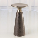 Quarry Bronze Side Table | Pedestal