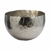 Rafael Large Metal Bowl | Nickel