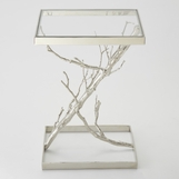 Rama Nickel Side Table