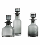 Ramsey Glass Decanters Set | Grey