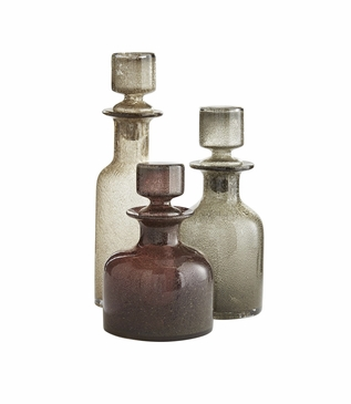 Ramsey Glass Decanters Set | Tri-color