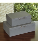 Ranchero Leather Boxes | Grey