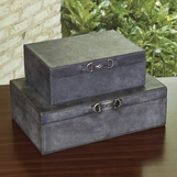 Ranchero Leather Boxes | Weathered Blue