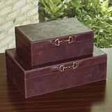 Ranchero Leather Boxes | Weathered Wine