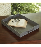 Ranchero Leather Tray | Grey