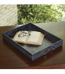 Ranchero Leather Tray | Weathered Blue