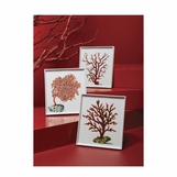 Red Coral Porcelain Trays