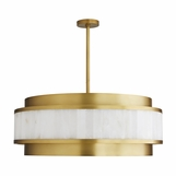 Regency Chandelier | Brass & Marble