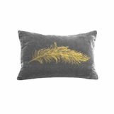 Reiki Velvet Pillows | Metallic Feather