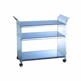 Reina Lucite Bar Cart | Clear