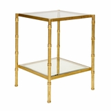 Renata Side Table | Gold Leaf