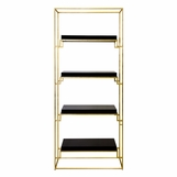 Renzo Bookshelf | Gold & Black