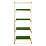 Renzo Bookshelf | Gold & Green