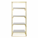 Renzo Bookshelf | Gold & White