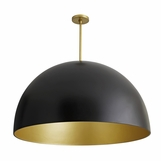 Rhys Grand Dome Pendant | Black & Gold