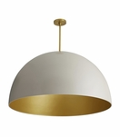 Rhys Grand Dome Pendant | White & Gold