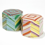 Ribbon Porcelain Boxes Set