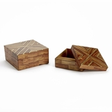 Rickert Wooden Boxes Set | Brass Inlay