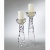 Ripples Glass Candleholders
