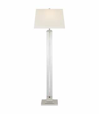 Robyn Glass Floor Lamp | Nickel