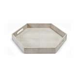 "Rocco Hex ""Shagreen"" Tray 