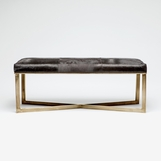 Rodeo Hide Bench | Brass