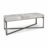 Rodeo Hide Bench | Silver