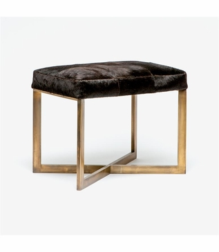 Rodeo Hide Stool | Brass