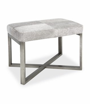 Rodeo Hide Stool | Silver
