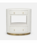 Rory Wide Side Table | White