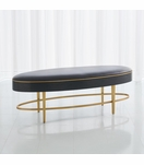 Royce Leather Bench | Black