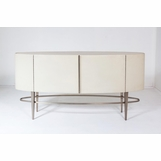 Royce Leather Buffet Cabinet | Ivory