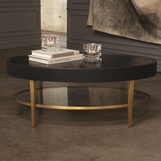 Royce Leather Coffee Table | Black