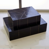 Sinatra Wooden Boxes | Brass Inlay