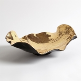 Ruffalo Ceramic Bowl | Gold