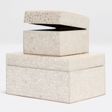 Russell Boxes Set | White & Cream