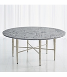 Salka Marble Coffee Table | Nickel